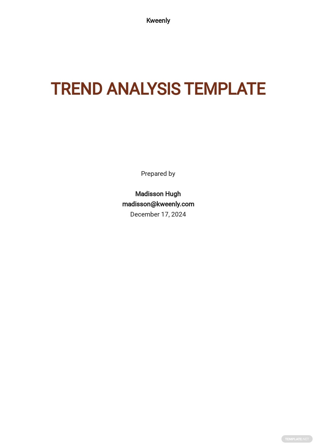 Trend Analysis Template