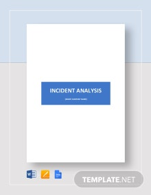 Incident Analysis Template