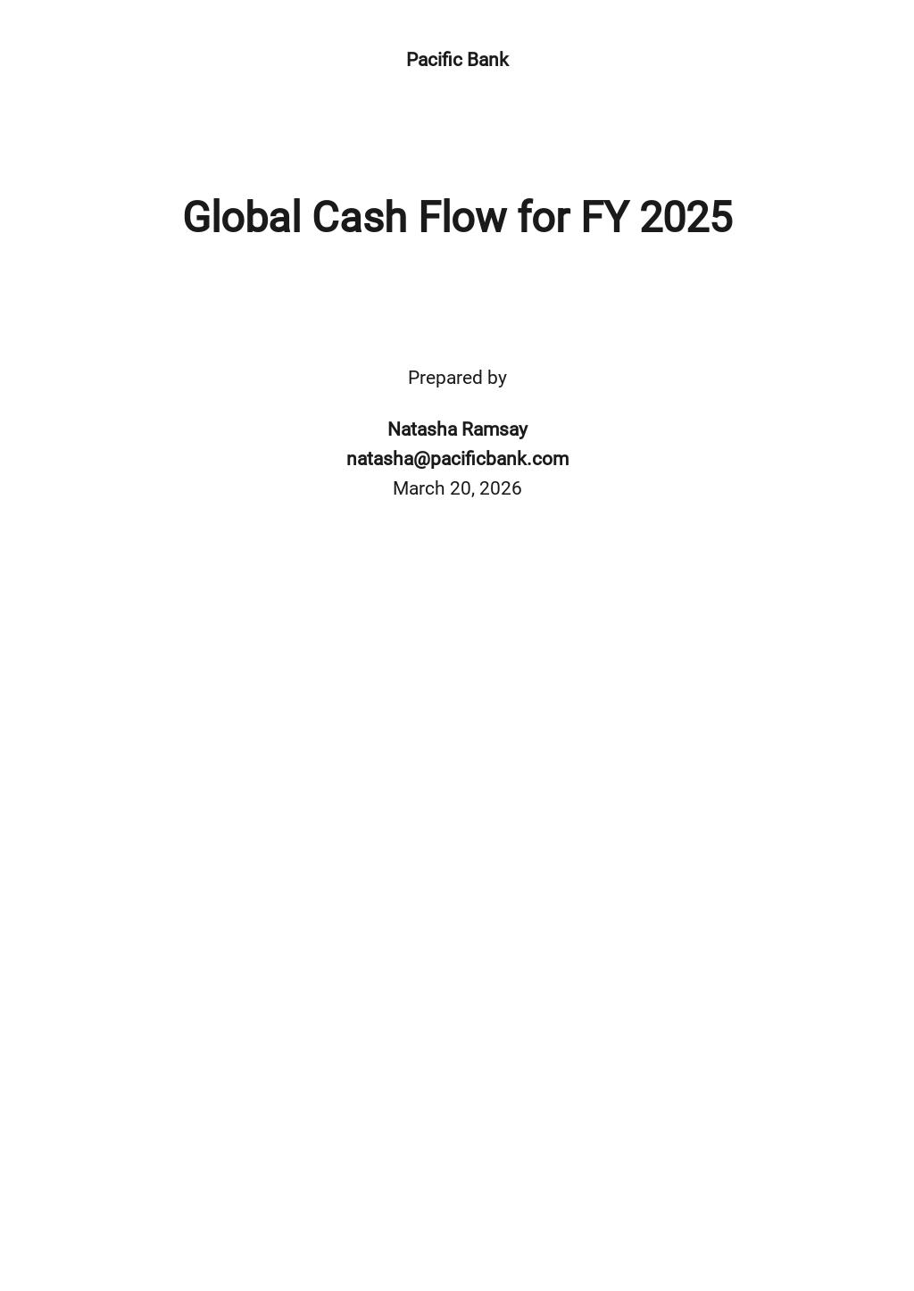Global Cash Flow Analysis Template