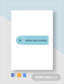 Safety Gap Analysis Template