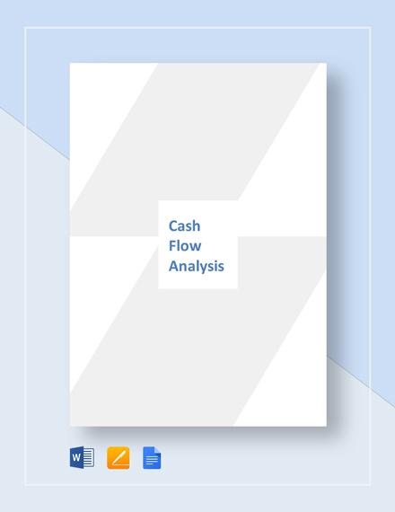 global cash flow analysis template word google docs. Black Bedroom Furniture Sets. Home Design Ideas