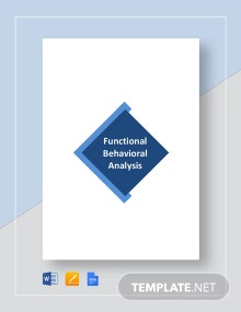 Functional Behavioral Analysis Sample Template