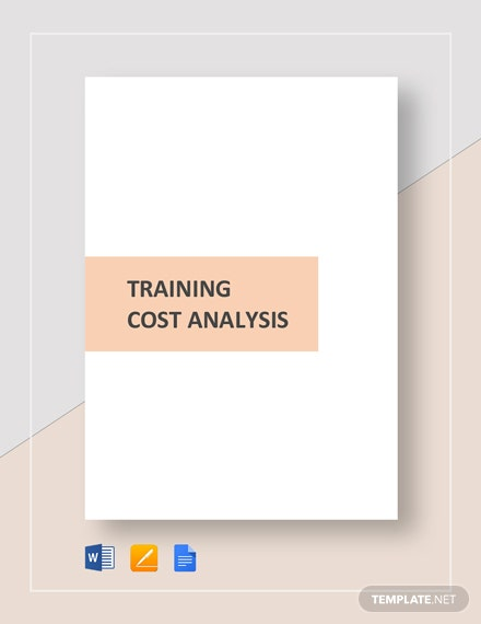 Training Cost Analysis Template