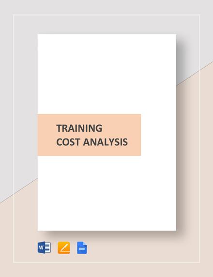 Training Cost Analysis Template