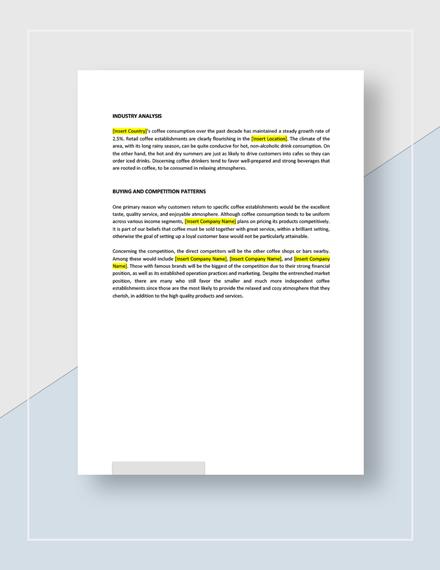 Target Market Analysis Example Download