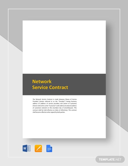 Network Service Contract Template