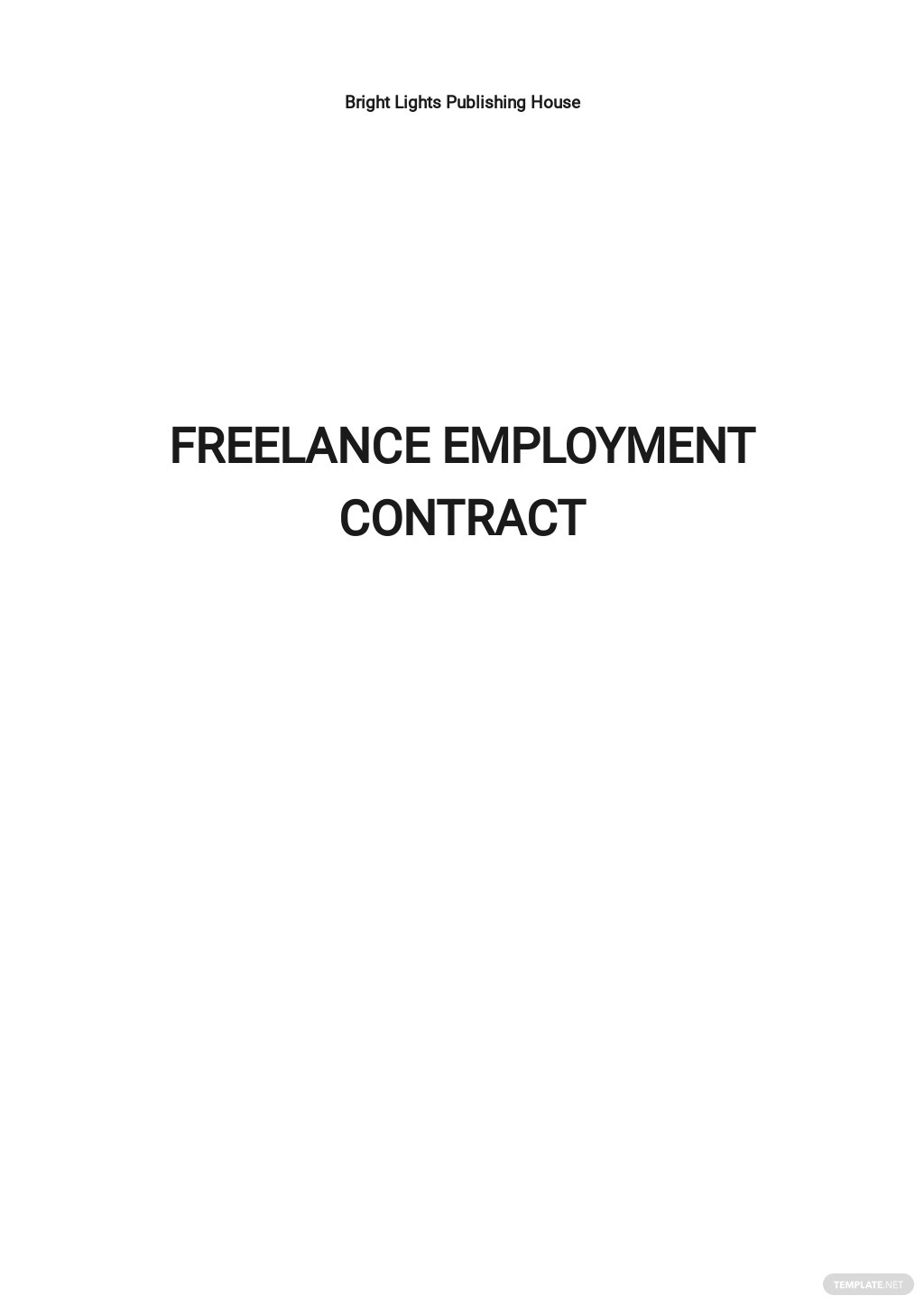 Freelance Employment Contract Template