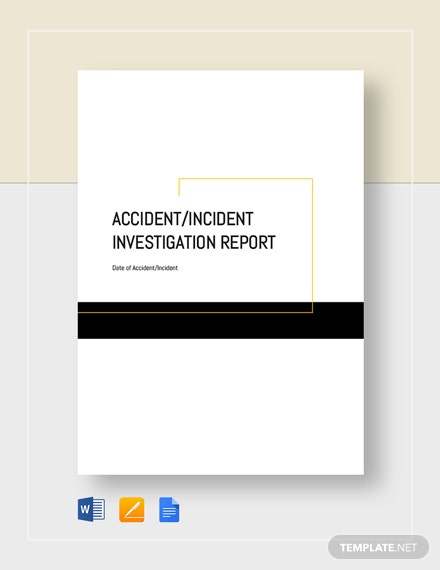 accident incident investigation report 6