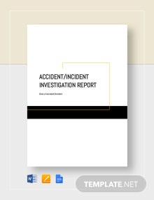 Accident Incident Investigation Report Template