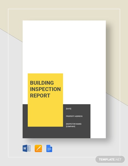 Building Inspection Report Sample Template
