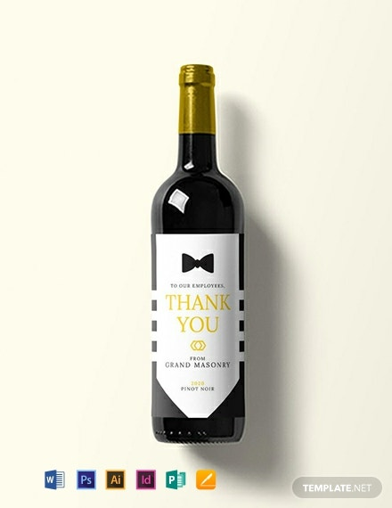 graphic relating to Free Printable Wine Labels With Photo titled 211+ Cost-free Label Templates - Term PSD InDesign Apple