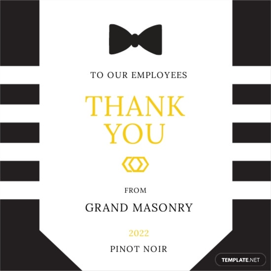 Gala Event Wine Label Template
