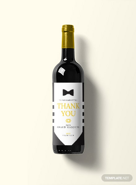 Free Gala Event Wine Label Template