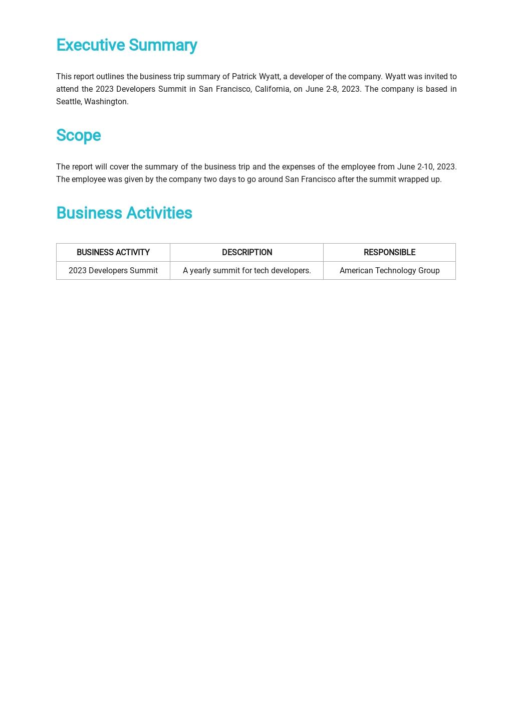Business Trip Summary Report Template 1.jpe
