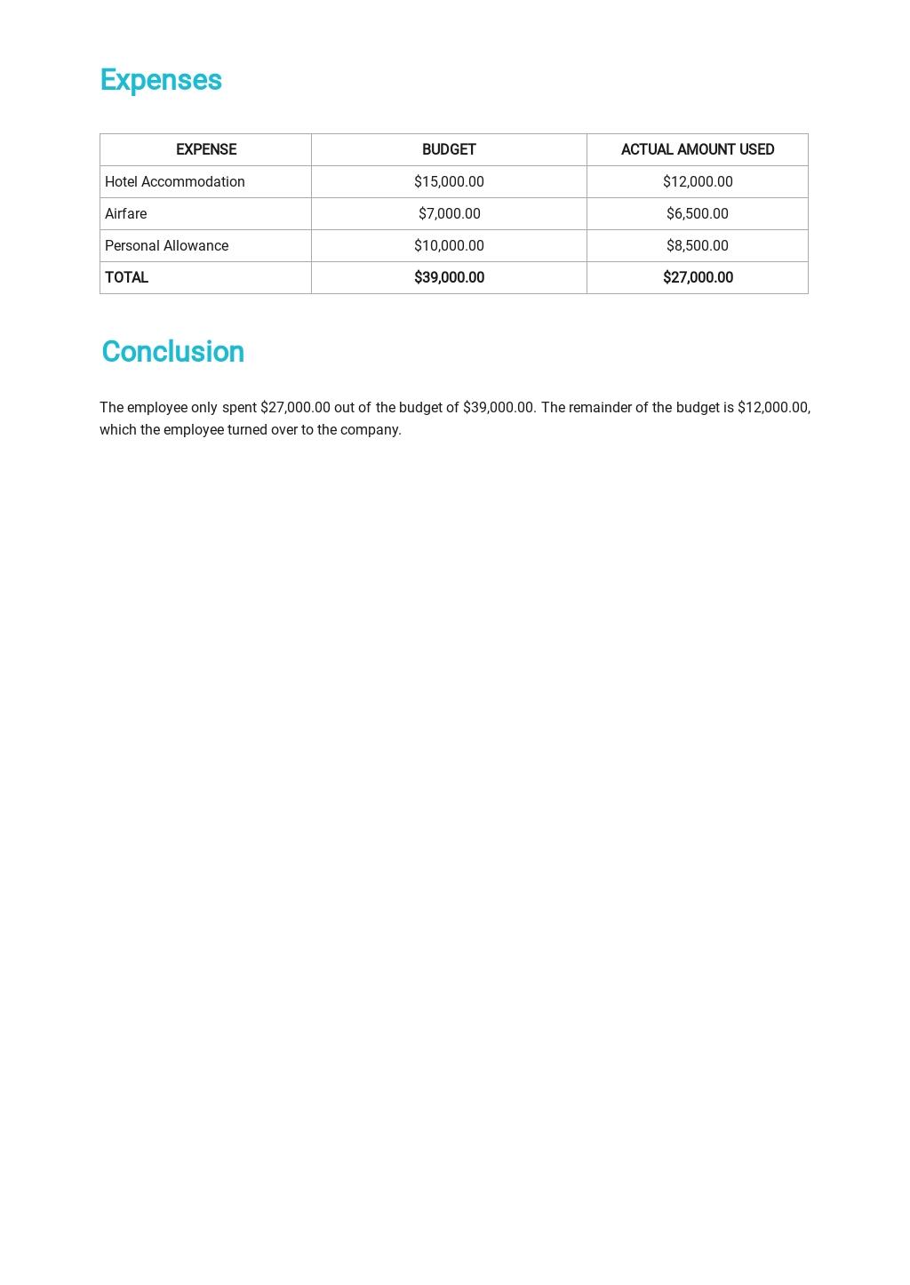 Business Trip Summary Report Template 2.jpe