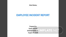 Employee Incident Report Template