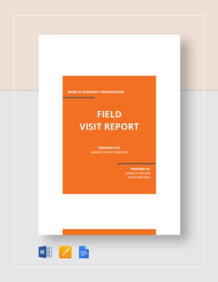 Field Visit Report Template