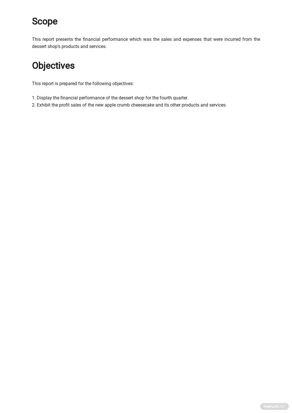 Financial Report Sample for Small Business Template 1.jpe