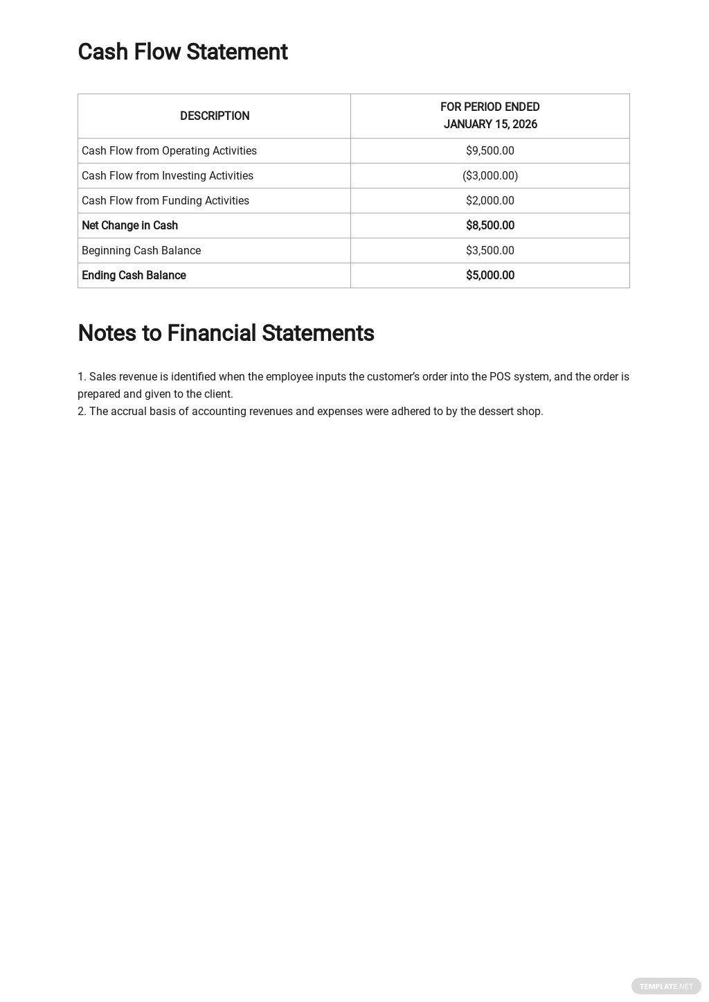 Financial Report Sample for Small Business Template 3.jpe