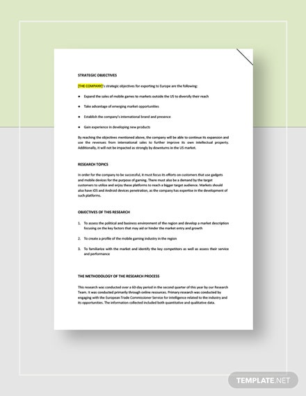 Market Research Report Download