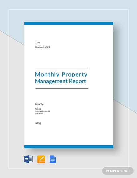 Monthly Property Management Report Template