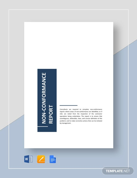 17+ Non Conformance Report Templates - PDF, Docs, Word, Pages | Free