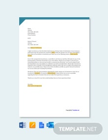 Free 60 Day Notice to Terminate Tenancy Letter Template