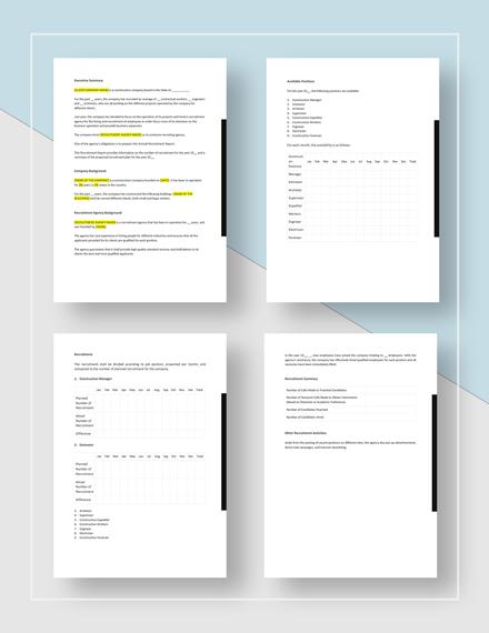 Recruitment Report Download