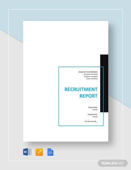 Recruitment Report Template