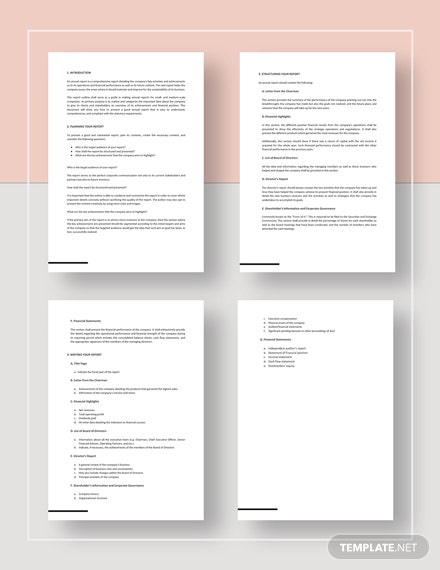 Report Outline Download