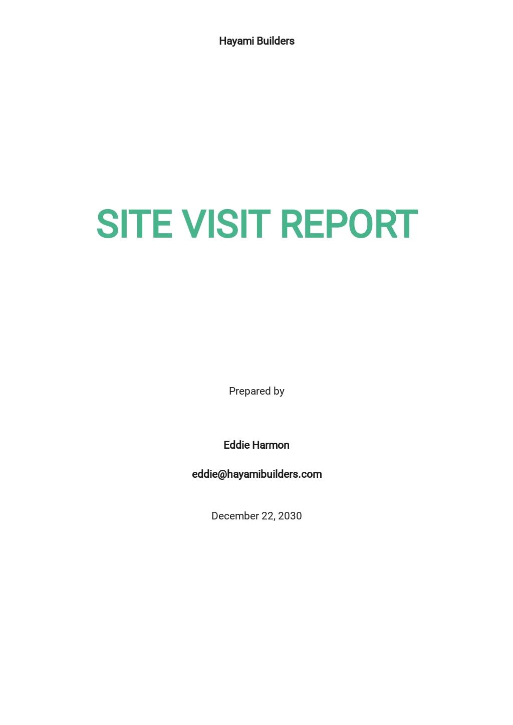 Site Visit Report Template .jpe
