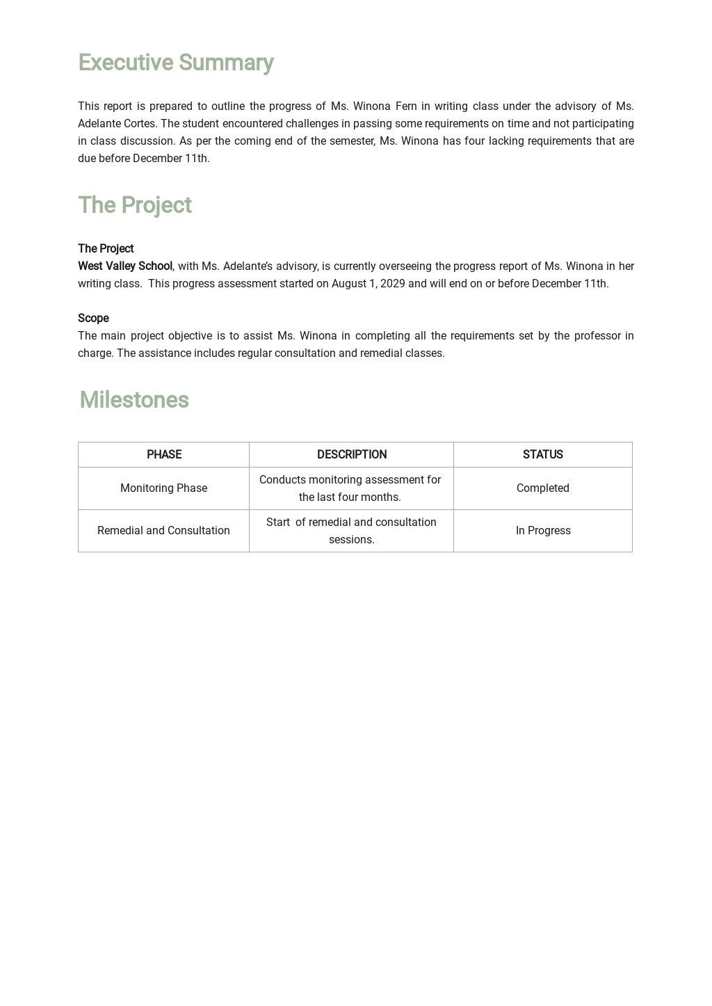 Student Progress Report Template  1.jpe