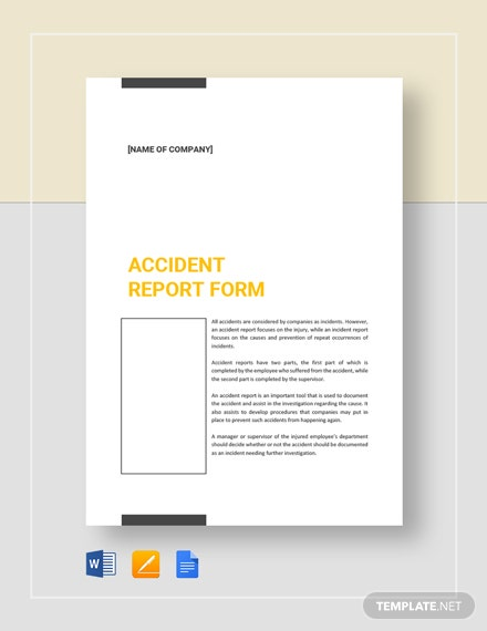 Accident Report Form Template