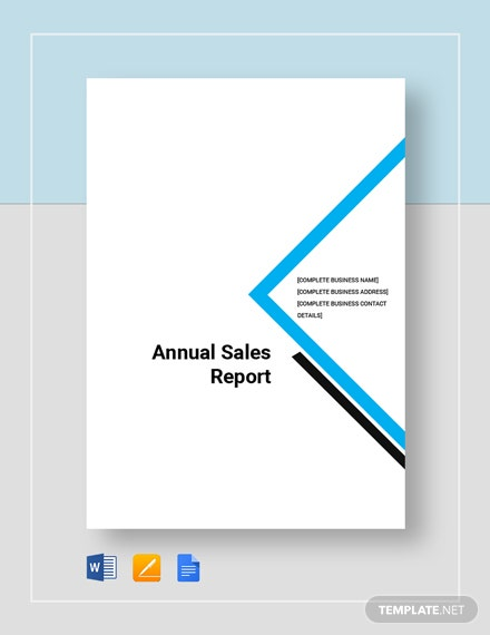 Annual Sales Report