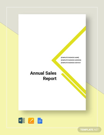 annual sales report 7