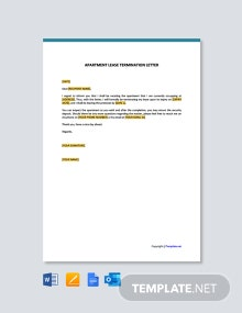 Free Apartment Lease Termination Letter Template