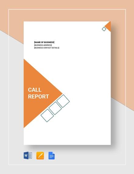 call report 2