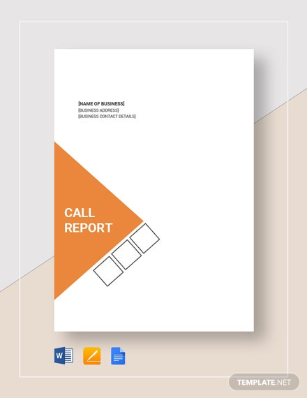 Call Report Template