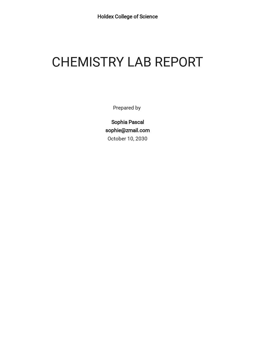 Chemistry Lab Report Template .jpe