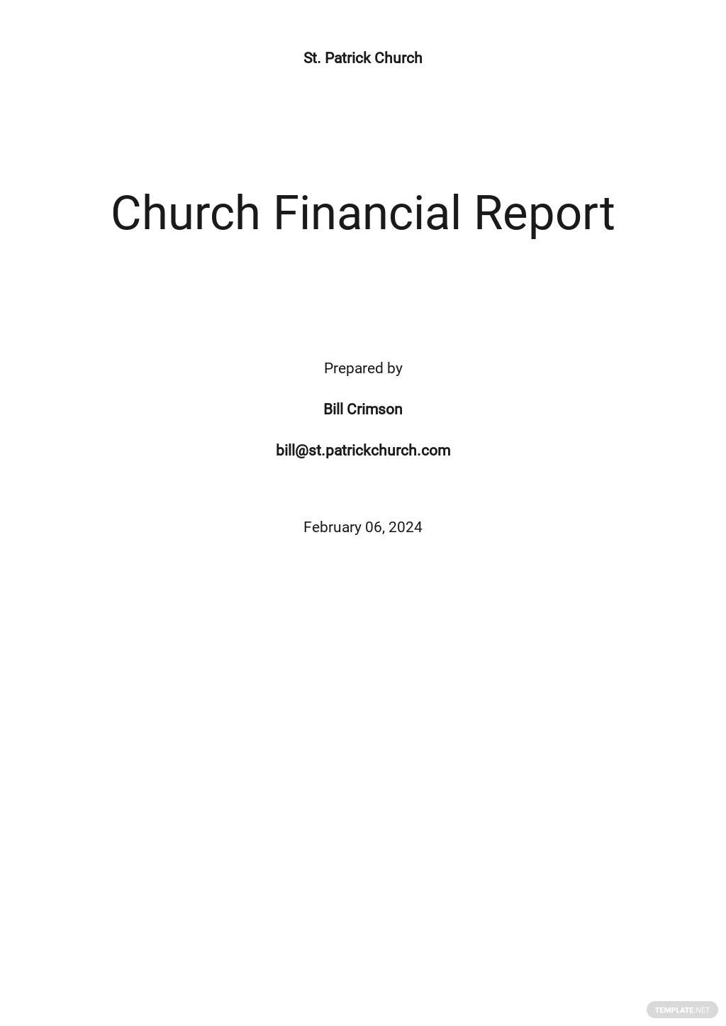 Church Financial Report Template.jpe