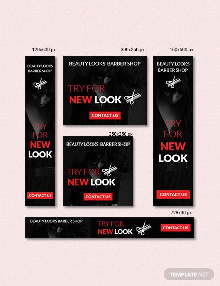 Free Barbershop Web Ad Banner Template