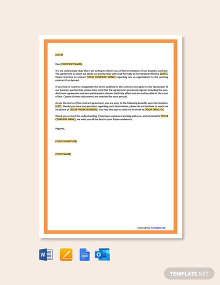 FreeBusinessContractTerminationLetterTemplate