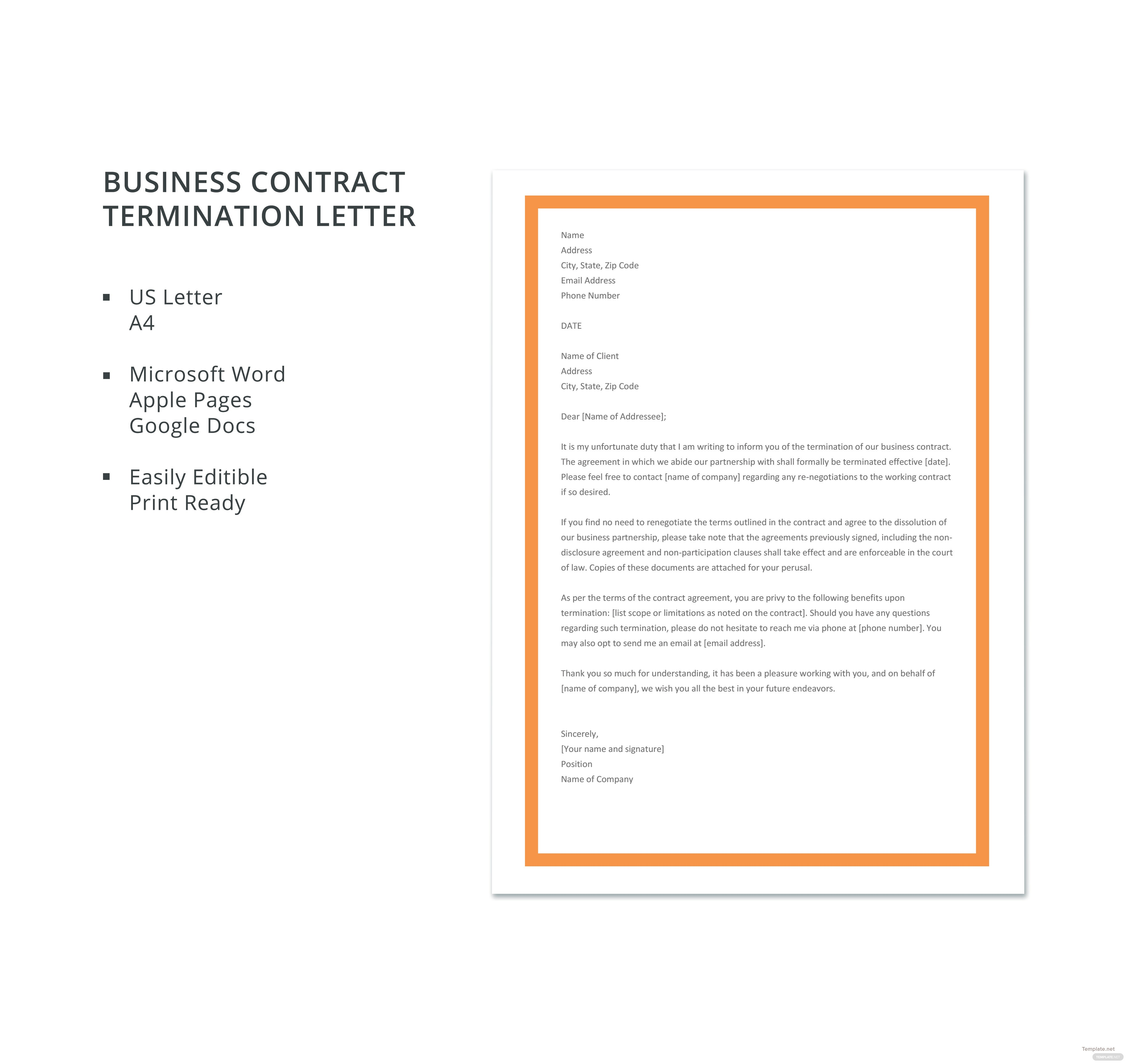 Free business contract termination letter template in microsoft word free business contract termination letter template spiritdancerdesigns Choice Image