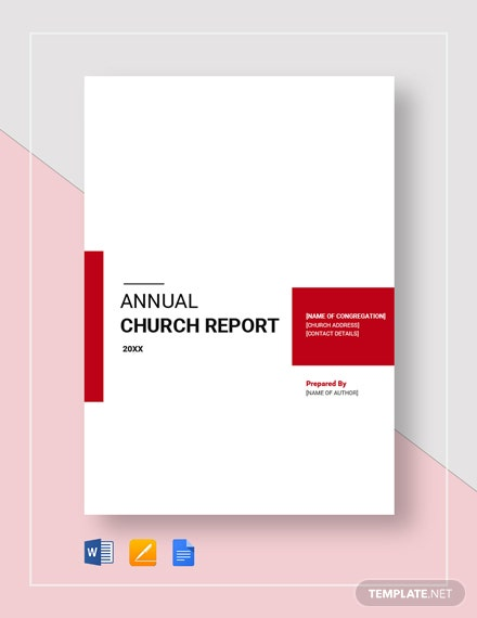 Church Report Template