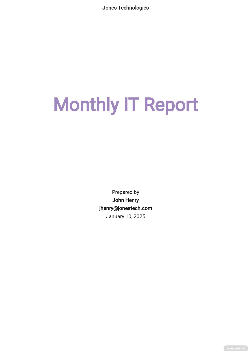 Monthly IT Report for Management Template.jpe