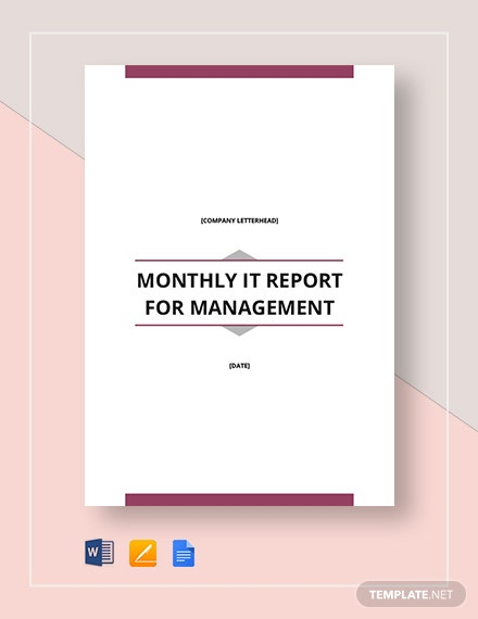 monthly it report for management