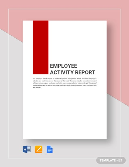 employee activity report