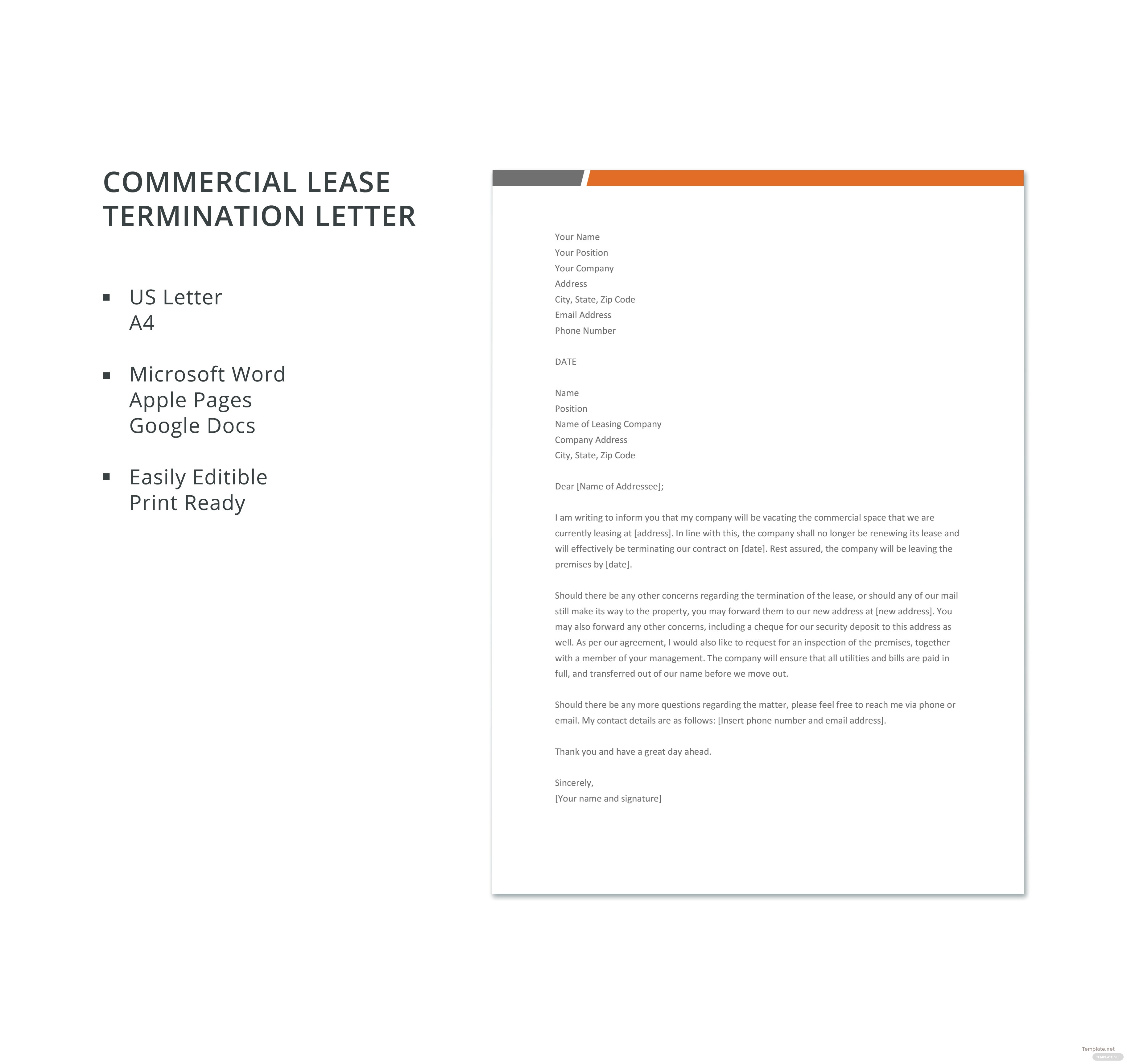 Business Lease Termination Letters Icard Ibaldo Co