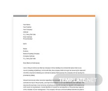 Free Commercial Lease Termination Letter Template