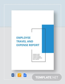 Employee Travel Expense Report Template
